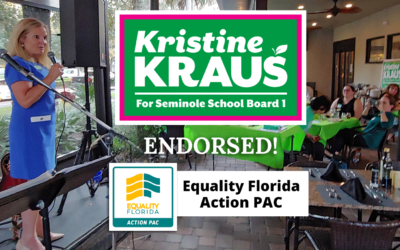 Equality Florida Action PAC Endorses Kristine Kraus for Seminole School Board