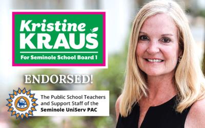 Seminole UniServ Endorses Kristine Kraus for Seminole School Board